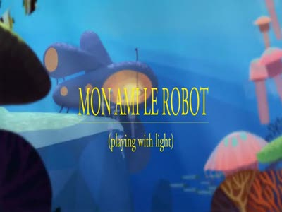 Playing with light - Mon ami le robot