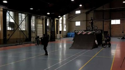 Rob Wise gnar bunny hop over 2 ppl
