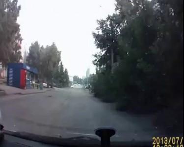 Напугал водителя