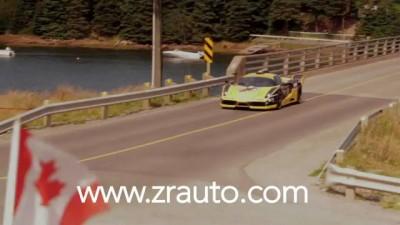 Enzo crashes into ocean at Targa Newfoundland 2011