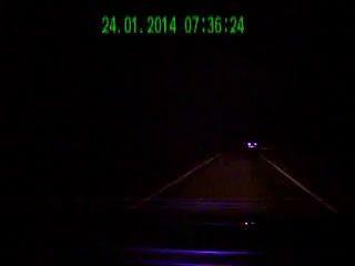 Авария ранним утром на скользской трассе