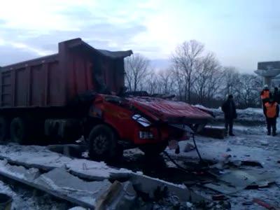На трассе Хабаровск – Владивосток обрушился виадук
