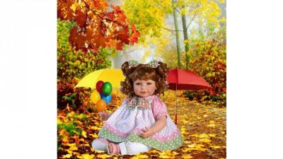 Куколка в осеннем лесу