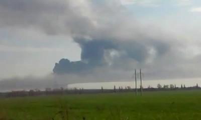Пожар на Кузьминском полигоне в Ростовской области