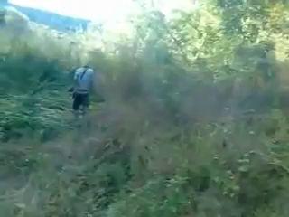 Патрон застрял в ружье., The cartridge is stuck in the gun.,