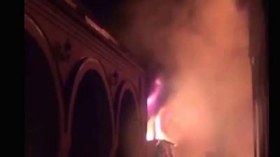 Пожар бандитского дома