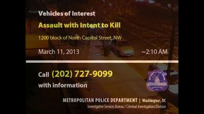 Vehicles of Interest in AWIK, 1200 b/o N. Capitol St., NW, on March 11, 2013