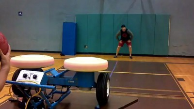 Guy Gets Hit in Face by Dodgeball Machine