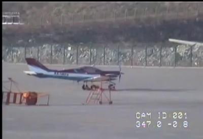 Самолет сдуло ветром