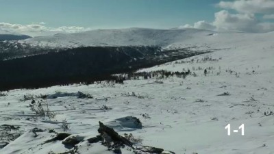 Перевал Дятлова, март 2013, часть 2 - склон