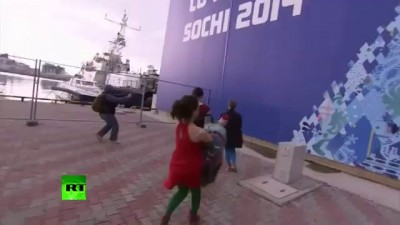 Video Pussy Riot whipped by Cossack in Sochi performance fail