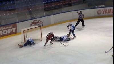 Юные хоккеисты шокировали зрителей