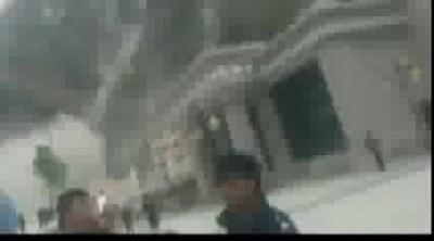 Видео из эпицентра опозня