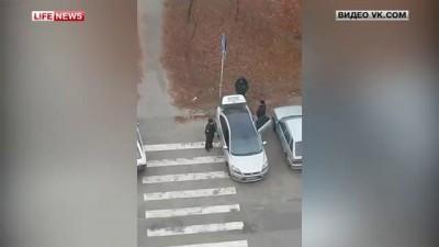 Белгородские полицейские перевезли бомжа в багажнике
