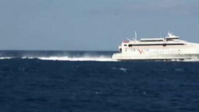 Морское сообщение в Гибралтарском проливе между Европой и Африкой со скоростью 40 узлов в час