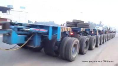 Прицеп для грузовика 144 колеса