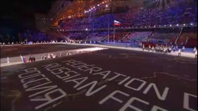Проход Российских спортсменов, Сочи 2014. Без комментаторов.