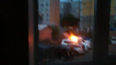Поджог автомобиля в Воронеже