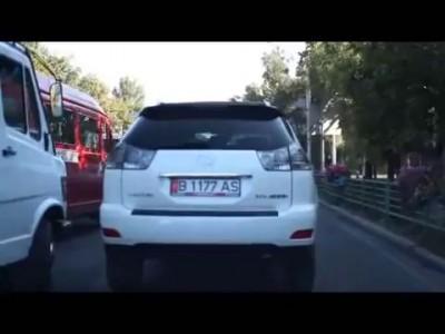 Погоня ГАИ за девушкой Бишкек Кыргызстан