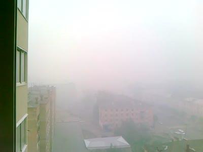 Смог в Рязани 31.07.2010 от торфяных пожаров