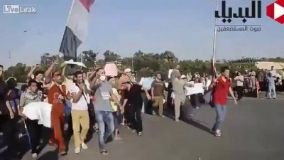 "Pallywood training in Egypt as Muslim Brotherhood ""protesters"" pose for the cameras"