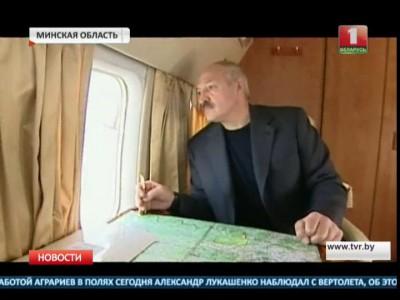 Лукашенко наблюдает за уборочной