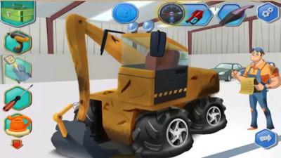 Механик Макс ремонтирует экскаватор. Мультик про машинки. Смотреть экскаватор для детей