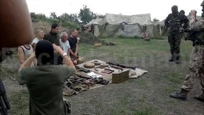 Харьковские сепаратисты на коленях просят прощения