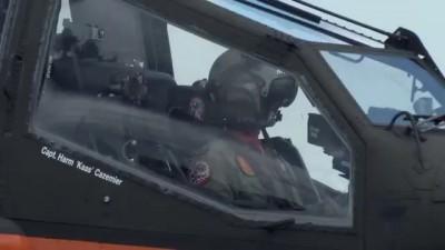 AH-64D Apache - demo display RNLAF. Volkel 2013, with Flares!!!!