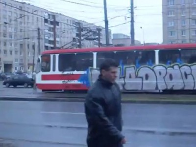 Трамвай + граффити