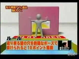 Японское шоу - человеческий тетрис