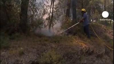 Горят леса в Испании, Хорватии, Румынии