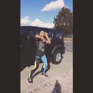 Paige VanZant celebrates signing with Reebok with some dance moves