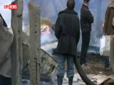 Пожар затушили фекалиями