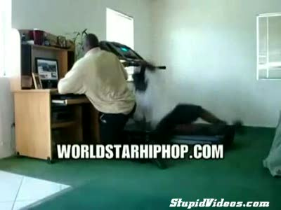 Hip Hop Treadmill Fail