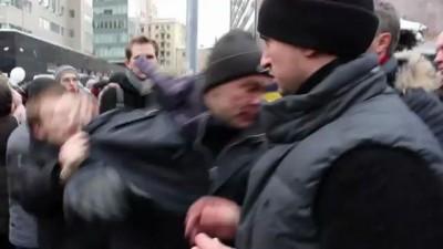 Нападение на Прохорова на митинге 24.12 пр.Сахарова