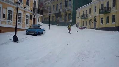 23 марта 2013. На сноуборде по Андреевскому спуску.