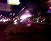 Трамвай сгорел до тла