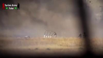 حلب: لحظة مقتل الارهابي ابو مسلم الكندي بنيران الجيش العربي السوري.