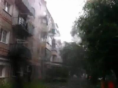 Ливень в Благовещенске 19.07.2012
