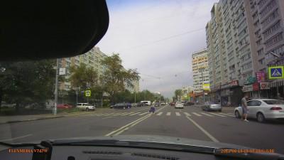 Пешеход идет быстрее