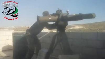 ПТУРом по Т-55