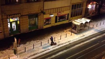Összeomlás a Népszínház utcában