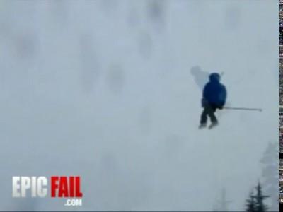 Неудачный прыжок в снег
