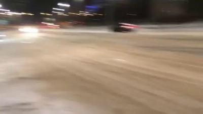 Дрифт Ауди S5 на Свердлова в забор )))