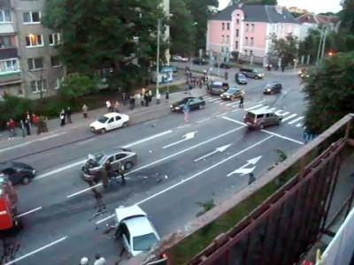 Авария на ул. Невского, Калининград