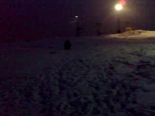 НА снегокате в крылатском =)))