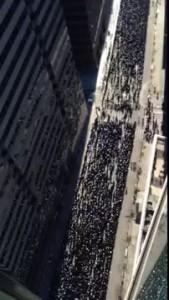 American Kehillos Organize in Lower Manhattan