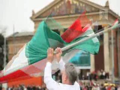 Флэш Моб на главной площади Будапешта