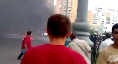 ДТП со взрывом на Братиславской.12.08.2012.